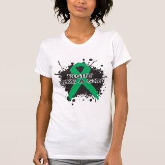 Fight Like A Girl Splatter - Liver Disease T Shirts