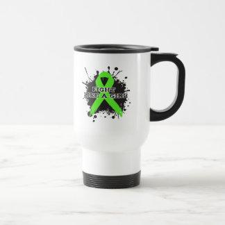 Fight Like A Girl Splatter - Non Hodgkins Lymphoma Coffee Mugs
