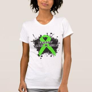 Fight Like A Girl Splatter - Non Hodgkins Lymphoma Tshirt