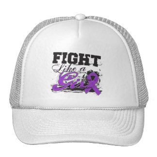 Fight Like a Girl Spray Paint - Alzheimers Disease Cap