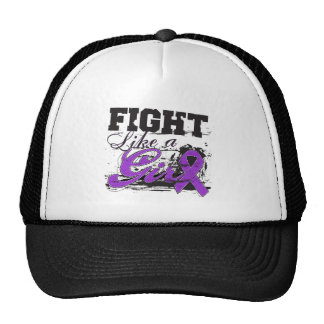 Fight Like a Girl Spray Paint - Alzheimers Disease Hats