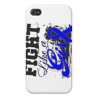 Fight Like a Girl Spray Paint - Anal Cancer iPhone 4/4S Cases