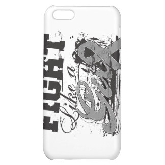 Fight Like a Girl Spray Paint - Brain Cancer Cover For iPhone 5C