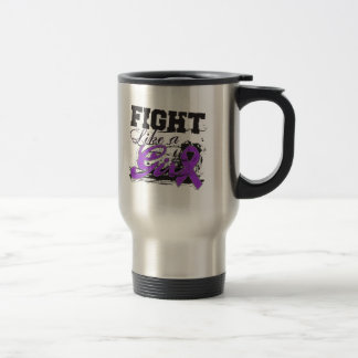 Fight Like a Girl Spray Paint - Crohn's Disease Stainless Steel Travel Mug