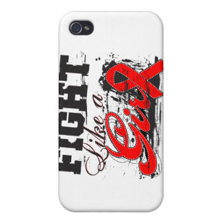 Fight Like a Girl Spray Paint - Heart Disease iPhone 4 Case
