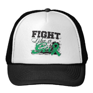 Fight Like a Girl Spray Paint - Liver Disease Mesh Hat