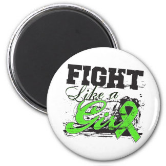 Fight Like a Girl Spray Paint - Lymphoma 6 Cm Round Magnet