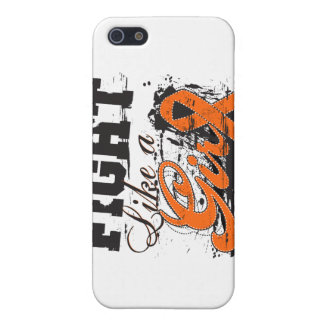 Fight Like a Girl Spray Paint - Multiple Sclerosis iPhone 5/5S Cases