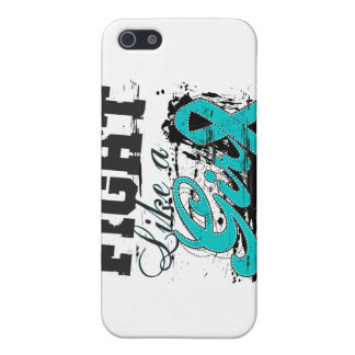 Fight Like a Girl Spray Paint - Ovarian Cancer Cover For iPhone 5