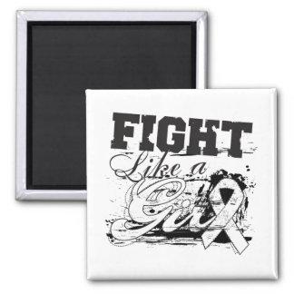 Fight Like a Girl Spray Paint - Retinoblastoma Magnet