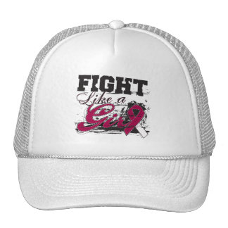 Fight Like a Girl Spray Paint - Throat Cancer Trucker Hat