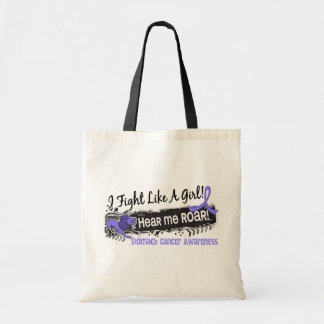 Fight Like A Girl Stomach Cancer 19.1 Tote Bags