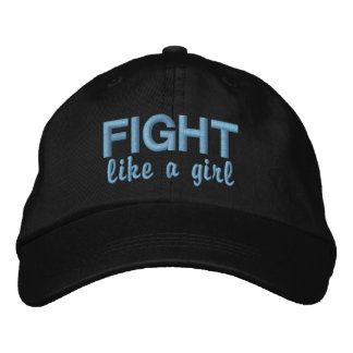 Fight Like A Girl Stomach Cancer Embroidered Baseball Caps