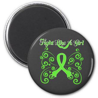 Fight Like A Girl Stylish Butterfly Lyme Disease Magnet