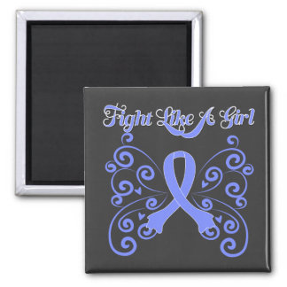 Fight Like A Girl Stylish Butterfly Stomach Cancer Magnet