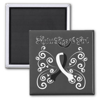 Fight Like A Girl Stylish Carcinoid Cancer Square Magnet