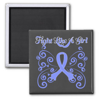 Fight Like A Girl Stylish Esophageal Cancer Square Magnet