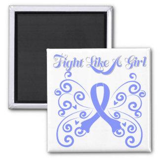 Fight Like A Girl Stylish Esophageal Cancer Fridge Magnets