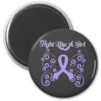 Fight Like A Girl Stylish General Cancer 6 Cm Round Magnet