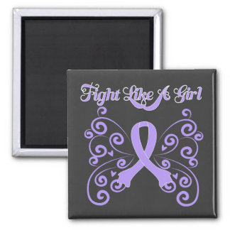 Fight Like A Girl Stylish General Cancer Magnet