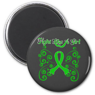 Fight Like A Girl Stylish Kidney Cancer Fridge Magnet