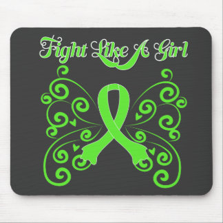 Fight Like A Girl Stylish Non-Hodgkin s Lymphoma Mousepads