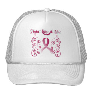 Fight Like A Girl Stylish Throat Cancer Cap