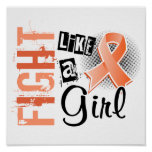Fight Like A Girl Uterine Cancer 36.8 Posters