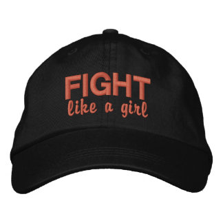 Fight Like A Girl Uterine Cancer Embroidered Hat