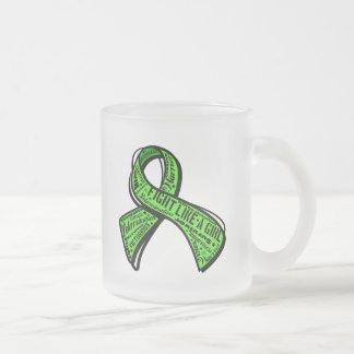 Fight Like a Girl Watermark Non-Hodgkin's Lymphoma Frosted Glass Mug