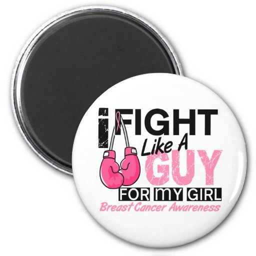 Fight Like A Guy Breast Cancer Fridge Magnets