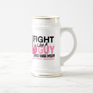 Fight Like A Guy Breast Cancer Beer Steins