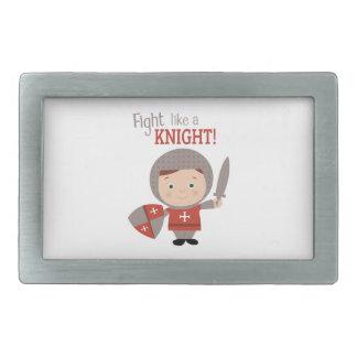 Fight Like A Knight! Rectangular Belt Buckle