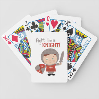 Fight Like A Knight! Bicycle Playing Cards
