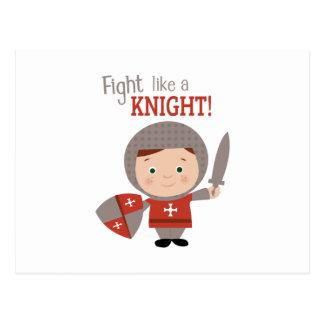 Fight Like A Knight! Postcard
