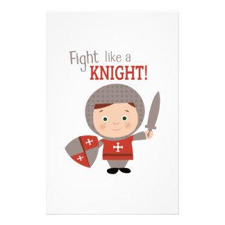 Fight Like A Knight! Stationery Design
