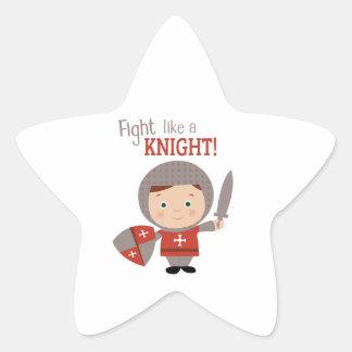 Fight Like A Knight! Star Sticker