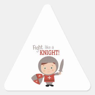 Fight Like A Knight! Triangle Stickers