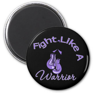 Fight Like A Warrior Hodgkin's Lymphoma 6 Cm Round Magnet