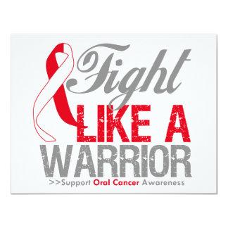"Fight Like a Warrior Oral Cancer 4.25"" X 5.5"" Invitation Card"
