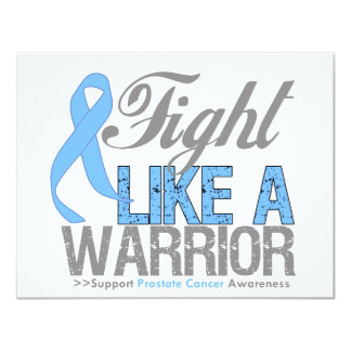 Fight Like a Warrior Prostate Cancer 11 Cm X 14 Cm Invitation Card