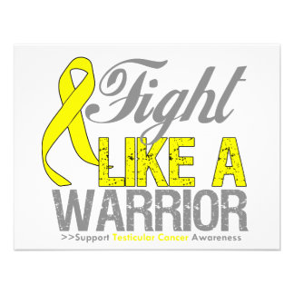 Fight Like a Warrior Testicular Cancer Personalized Invitations