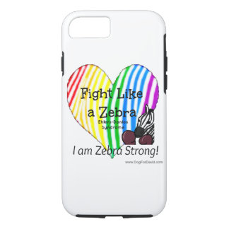 Fight Like a Zebra iPhone case