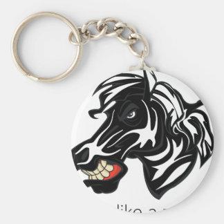 Fight Like a Zebra Key Chain