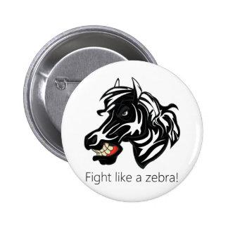 Fight Like a Zebra png Button