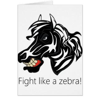 Fight Like a Zebra.png Greeting Card
