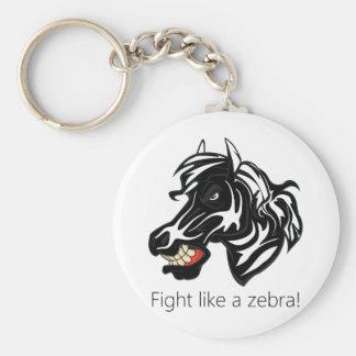 Fight Like a Zebra.png Keychain