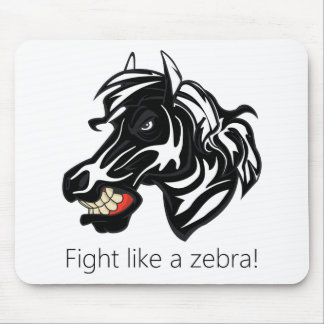 Fight Like a Zebra png Mouse Pads