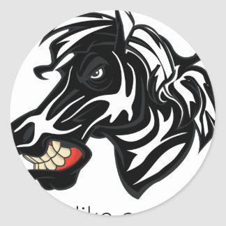 Fight Like a Zebra.png Round Stickers