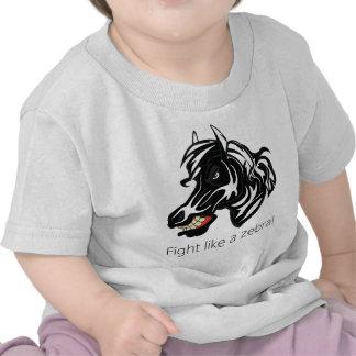 Fight Like a Zebra png T-shirt